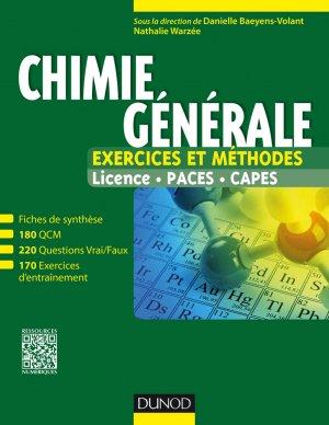 Chimie générale - dunod - 9782100720736 -