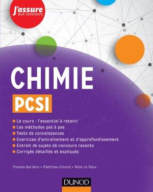 Chimie PCSI - dunod - 9782100749065 -