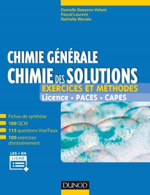 Chimie générale : chimie des solutions-dunod-9782100758562