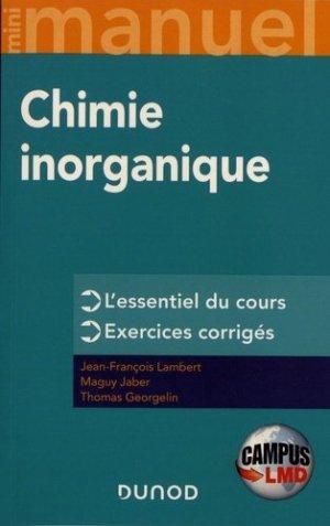 Chimie inorganique - Dunod - 9782100807680 -
