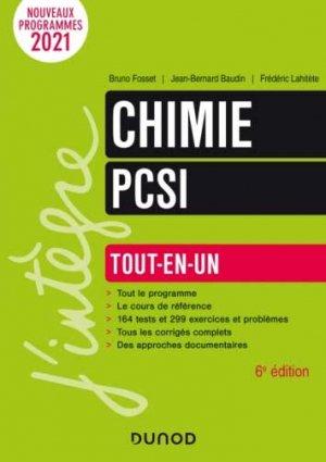 Chimie tout-en-un PCSI - Dunod - 9782100821105 -