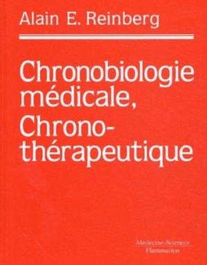 Chronobiologie médicale, chronothérapeutique - lavoisier msp - 9782257121394 -