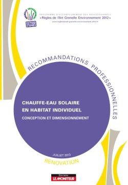 Chauffe-eau solaire en habitat individuel - Rénovation - Conception et dimensionnement - le moniteur - 9782281151480 -