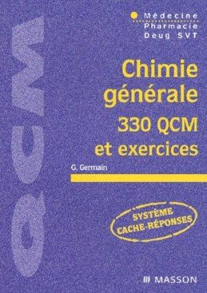 Chimie générale 330 QCM et exercices - elsevier / masson - 9782294007941
