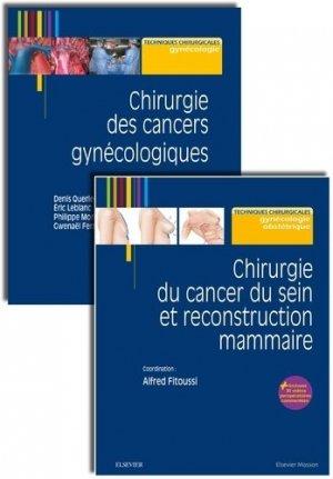 Chirurgie des cancers gynécologiques ; Chirurgie du cancer du sein et reconstruction mammaire - elsevier / masson - 9782294769924 -