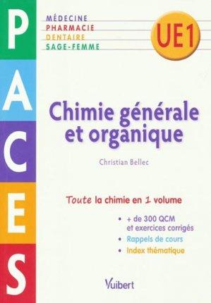 Chimie générale et organique - vuibert - 9782311007374 -