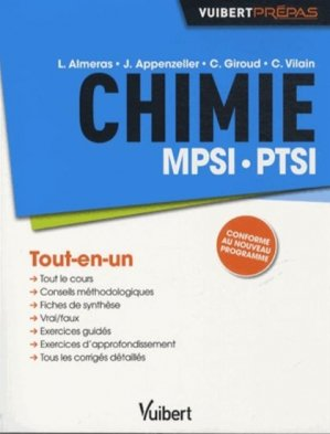 Chimie MPSI PTSI - vuibert - 9782311013047 -