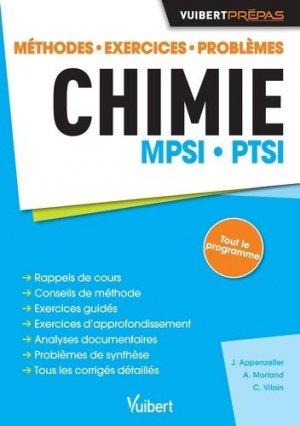 Chimie MPSI PTSI - vuibert - 9782311405286 -