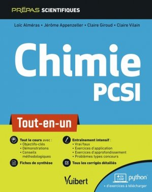 Chimie PCSI - vuibert - 9782311406795 -