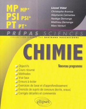 Chimie MP - MP* PSI - PSI* PT - PT* - ellipses - 9782340000230 -