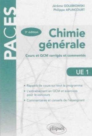 Chimie générale - ellipses - 9782340000926