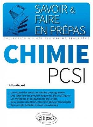 Chimie PCSI - ellipses - 9782340006577
