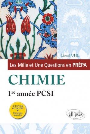 Chimie 1re année PCSI - ellipses - 9782340013452 -