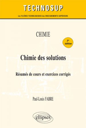 Chimie des solutions-ellipses-9782340019751