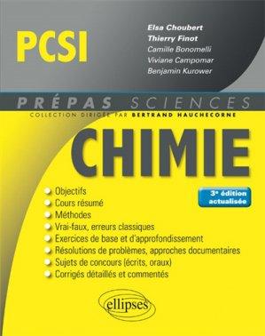 Chimie PCSI - ellipses - 9782340020092 -