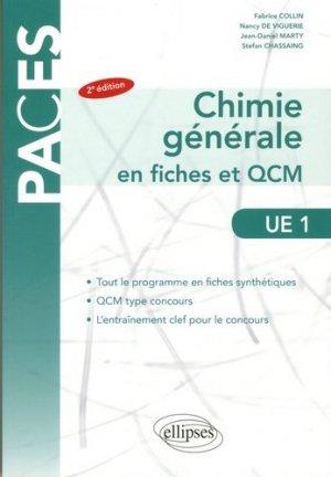 Chimie générale en fiches et QCM  UE1 - ellipses - 9782340020658 -