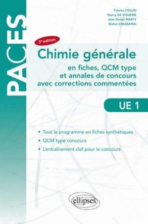 Chimie générale UE1 - ellipses - 9782340027855 -
