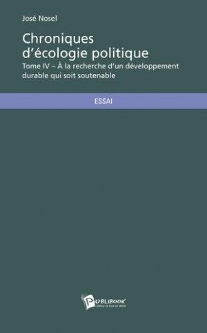 Chroniques d'écologie politique - societe des ecrivains - 9782342022872 -