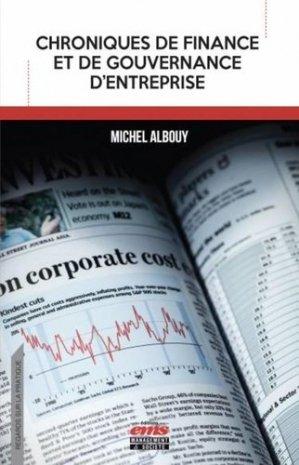 Chroniques de finance et de gouvernance d'entreprise - ems - 9782376872191 -