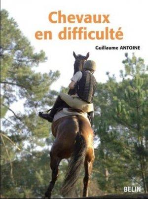 Chevaux en difficulté - belin - 9782701154848 -