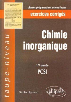 Chimie inorganique 1ère année PCSI - ellipses - 9782729825225 -