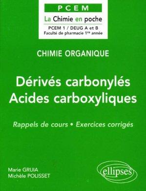 Dérivés carbonylés - Acides carboxyliques - ellipses - 9782729869731