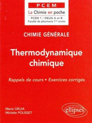 Thermodynamique chimique - ellipses - 9782729869755 -