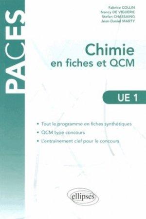 Chimie en fiches et QCM UE1 - ellipses - 9782729882266 -