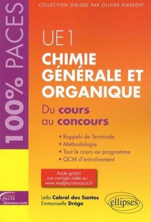 Chimie générale et organique UE1 - ellipses - 9782729883591 -