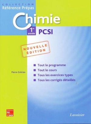 Chimie 1ère année PCSI - lavoisier / tec et doc - 9782743011291 -