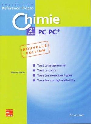 Chimie 2ème année PC PC* - lavoisier / tec et doc - 9782743011321 -