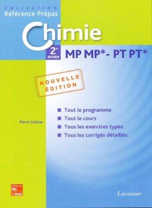 Chimie 2ème année MP MP* PT PT* - lavoisier / tec et doc - 9782743011338 -