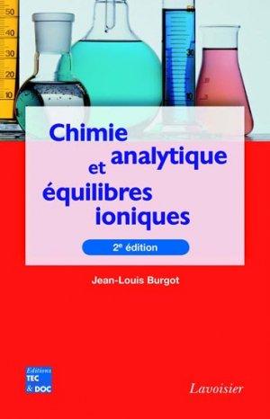 Chimie analytique et équilibres ioniques - lavoisier / tec et doc - 9782743013608 -
