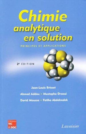 Chimie analytique en solution - lavoisier / tec et doc - 9782743013776 -