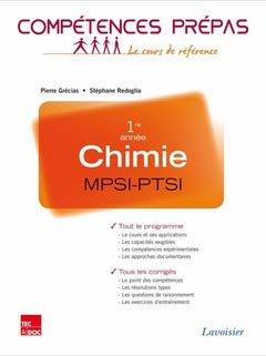 Chimie 1ère année MPSI - PTSI - lavoisier / tec et doc - 9782743015145 -
