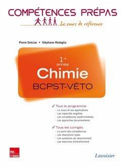Chimie 1ère année BCPST - VÉTO - lavoisier / tec et doc - 9782743015152 -