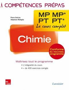 Chimie MP MP* PT PT* - lavoisier / tec et doc - 9782743015831 -