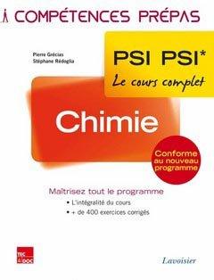 Chimie PSI PSI* - lavoisier / tec et doc - 9782743015848 -