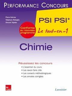 Chimie PSI PSI* - lavoisier / tec et doc - 9782743015886 -