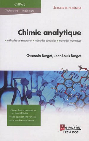 Chimie analytique - lavoisier / tec et doc - 9782743020392 -