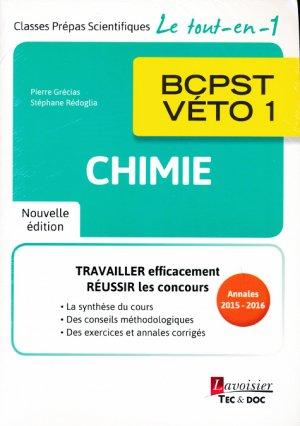 Chimie BCPST - VÉTO 1 - lavoisier / tec et doc - 9782743022921 -