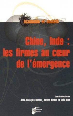 Chine, Inde : les firmes au coeur de l'émergence - presses universitaires de rennes - 9782753540118 -