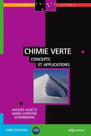 Chimie verte - edp sciences - 9782759809769 -