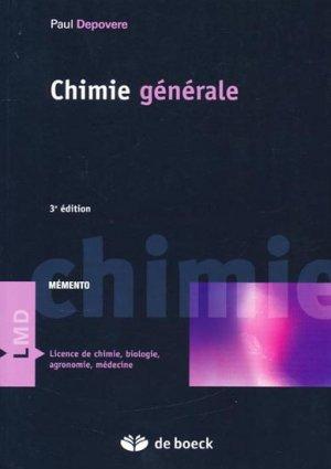 Chimie générale - de boeck superieur - 9782804150297 -