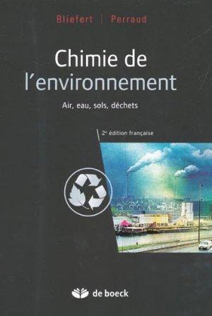 Chimie de l'environnement - de boeck superieur - 9782804159450 -