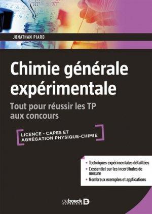 Chimie générale expérimentale - de boeck superieur - 9782807315020