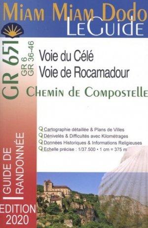 Chemin de Compostelle, Voie de Rocamadour & Voie du Célé. Edition 2020 - Les éditions du Vieux Crayon - 9782916446981 -