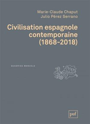 Civilisation espagnole contemporaine - puf - presses universitaires de france - 9782130810339 -