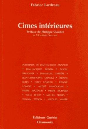 Cimes intérieures - guerin - 9782352210719 -