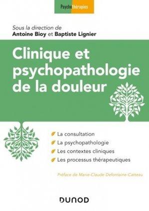 Clinique et psychopathologie de la douleur - dunod - 9782100807079 -